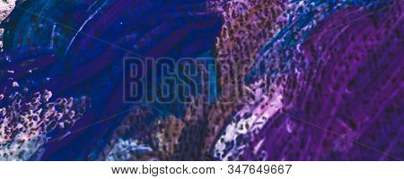 Stroke, artwork and palette concept - Abstract vintage brush strokes on canvas background, oil painting impressionism art backdrop, paint texture for artistic brand, pastel colours flat lay design stock photo