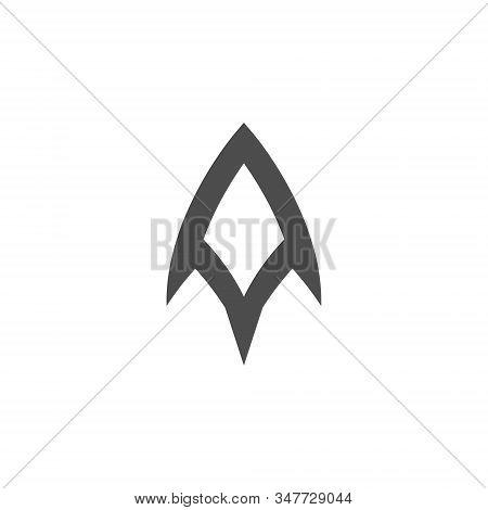 A Letter Logo Monogram Design Element Typeface Type Vintage Sign Emblem Typeset Combination Luxury Character Handmade Trademark Script Alphabet Elegant Decoration stock photo