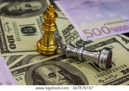 Business man in office and Chess business leader success idea. Working on making business plan, business investment advisor consulting on the financial report, plan a marketing plan at business office. Business accounting plan concept. stock photo