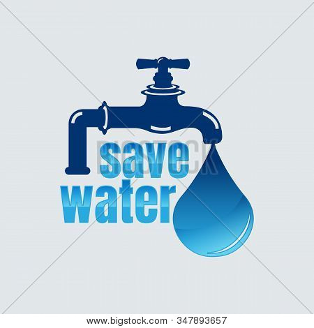 Save Water Vector Concept Ecology,save water icon vector from save the world collection. Thin line save water outline icon vector illustration. Linear symbol for use on web and mobile apps, logo, print media stock photo