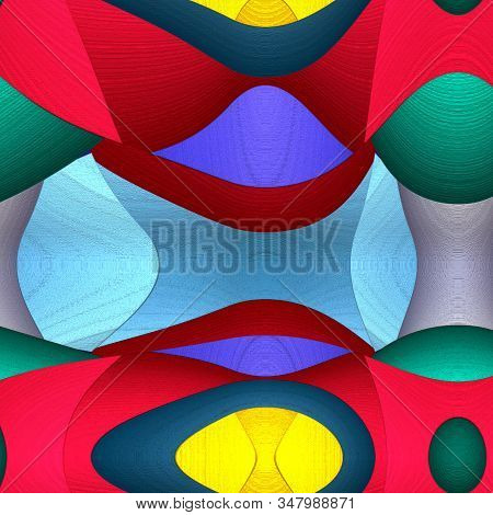Game of shapes series. Abstract Modern Art background. Arrangement of vibrant painted abstract shapes on the subject of creativity, imagination, art and design. stock photo