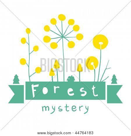 Fairytale forest header stock photo