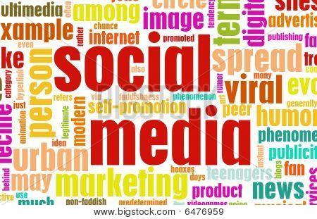Social Media Concept as a Abstract Background stock photo