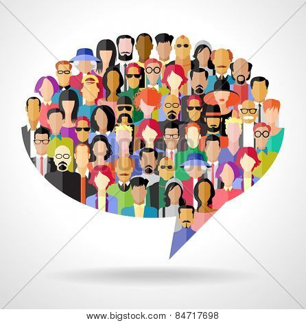 Avatar people in the form of speech bubble The concept of  communication. The file is saved in the v