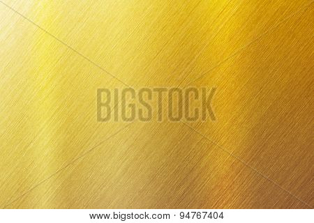 Gold brushed metal surface. sharp to the corners. stock photo