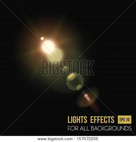 Abstract sun in zenith light effect through lens. Sunlight and bright beam light effect for background, star radiance. For sunset or sunshine, sunrise light effect, flyer background and magic theme stock photo