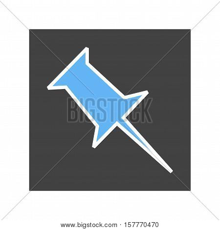 Pinboard, design, media icon vector image. Can also be used for social media logos. Suitable for mobile apps, web apps and print media. stock photo