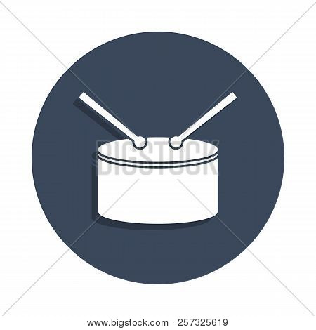 drum icon in badge style. One of music collection icon can be used for UI, UX stock photo
