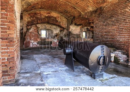Fort Zachary Taylor in Key West, Florida, was built in 1845 and was manned during World War I and World War II. stock photo