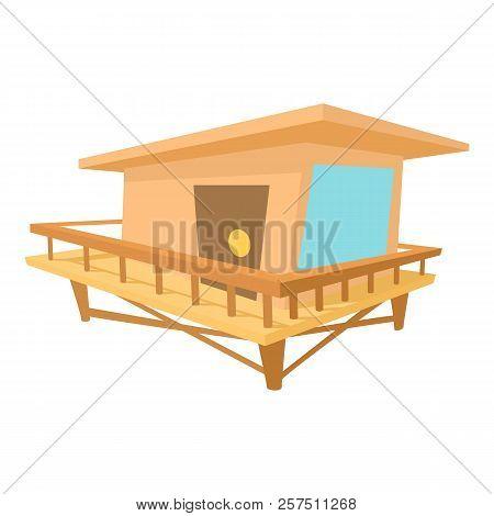Stilt house icon. Cartoon illustration of stilt house icon for web stock photo