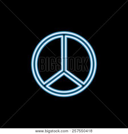 Hippie Peace Symbol icon in neon style. One of Life style collection icon can be used for UI, UX stock photo