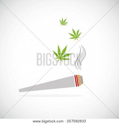 marijuana joint smoking drug cigarette vector illustration stock photo