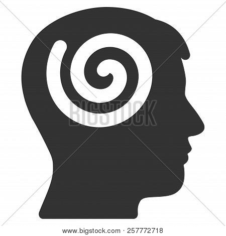 Vector hypnosis illustration. An isolated illustration on a white background. stock photo