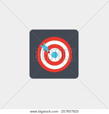Darts game. Darts icon. Game. Logo. Vector illustration. EPS 10. stock photo