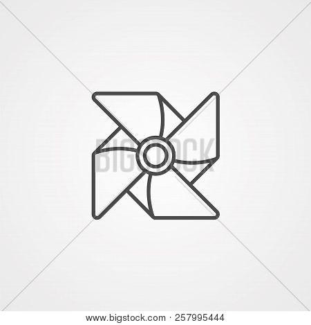 Pinwheel icon vector isolated on white background, Pinwheel transparent sign stock photo