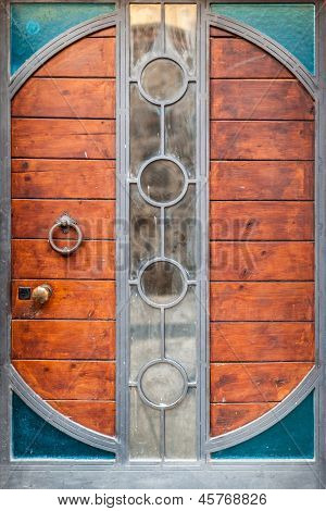 Steampunk Door-Lg Fridge Magnet Skin (size 36x65)