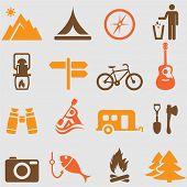 Camping symbols set.vector