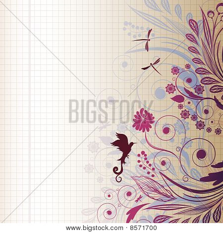 EPS10 vector sketch flower - Illustration for your design. stock photo