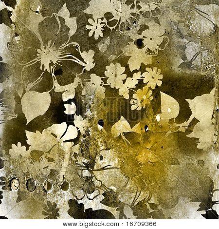 art floral grunge background pattern. To see similar, please VISIT MY PORTFOLIO.  stock photo