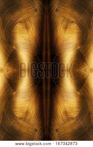 The Texture Of Black Gold. Abstract Seamless Pattern. Fractal Art Background For Creative Design. De-Mini Fridge Magnet Skin (size 20x31)
