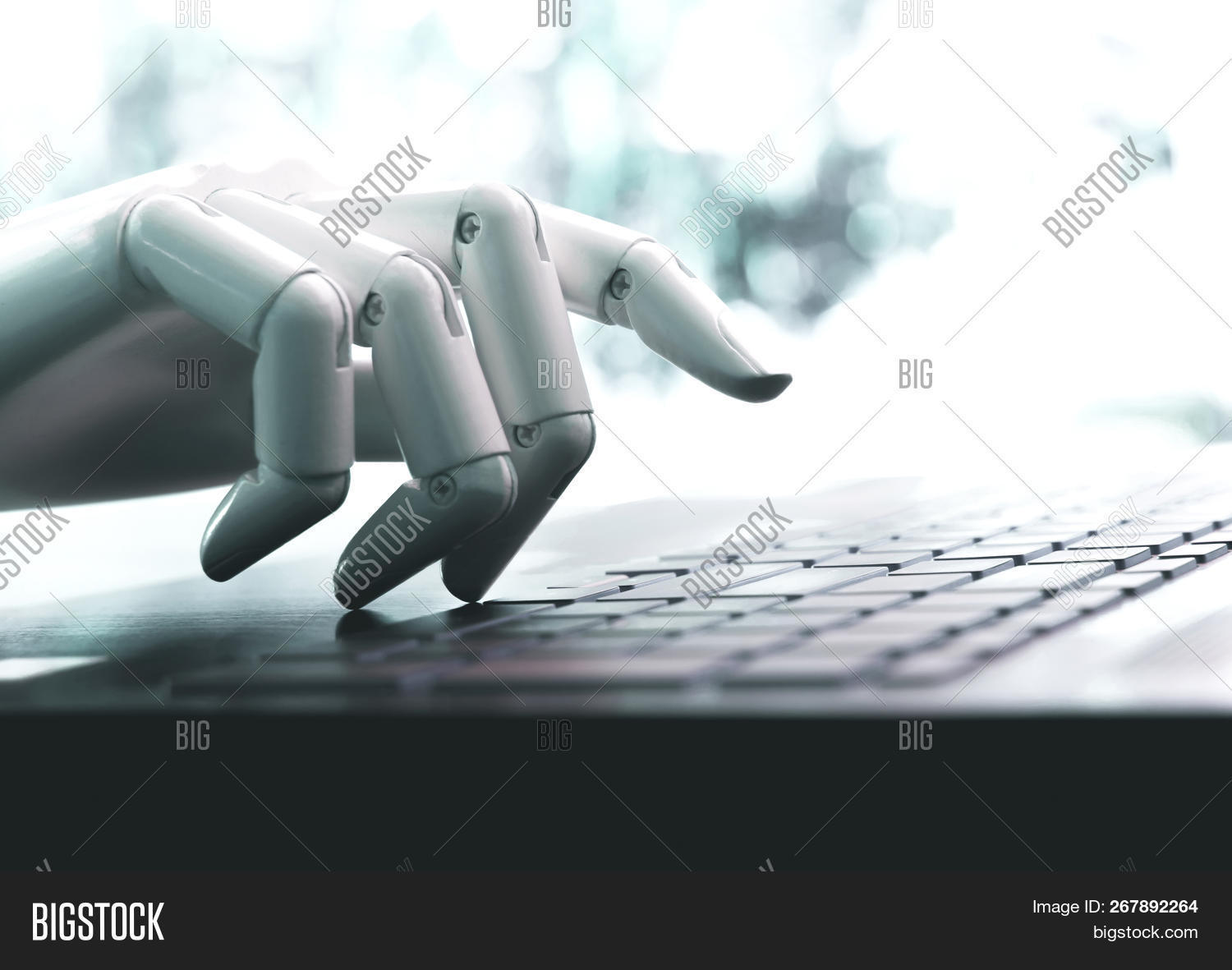 ai,android,arm,artificial,background,button,computer,concept,cyber,data,design,digital,electronic,enter,finger,hand,illustration,intelligence,isolated,key,keyboard,machine,modern,press,push,robot,robotic,screen,security,software,tablet,tech,technology,touch,typing,view,white,work,writing