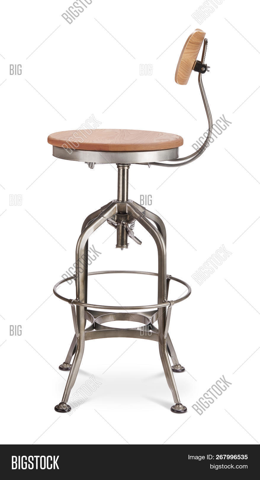Superb Silver Shade Excessive Spinning Bar Stool Chair Wooden Inzonedesignstudio Interior Chair Design Inzonedesignstudiocom