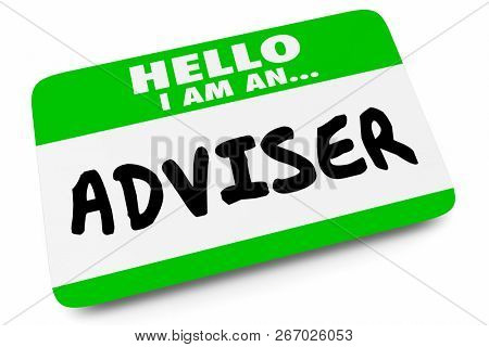 Adviser Support Consultant Name Tag 3d Illustration stock photo