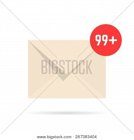 notification email like overflowing mailbox. concept of sent online messages or full mail box like correspondence. simple cartoon style trend ui logotype graphic design isolated on white background stock photo