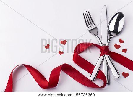Valentines Day Set With Silverware