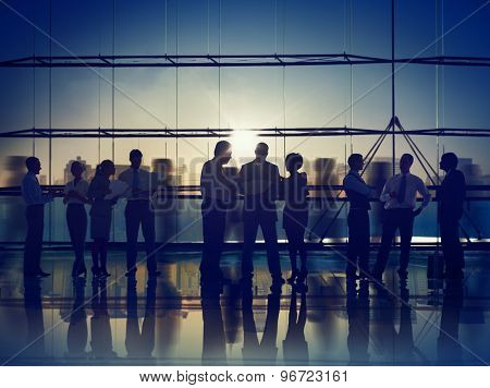 Business People Corporate Meeting Communication Working Office Concept