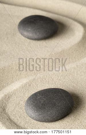 zen meditation stone background, Buddhism stones presenting ying yang for relaxation balance and har-Lg Fridge Magnet Skin (size 36x65)