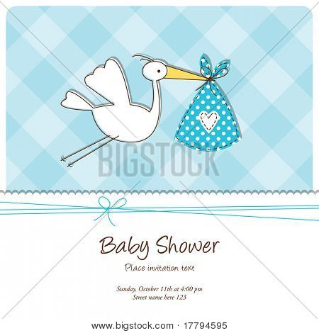 Baby announcement card stock photo