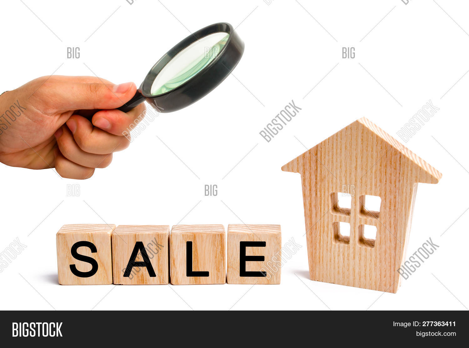 wooden house with the inscription sale on white isolated background. sale of property, home. affordable housing. sale of apartments. real estate agent services. realtor