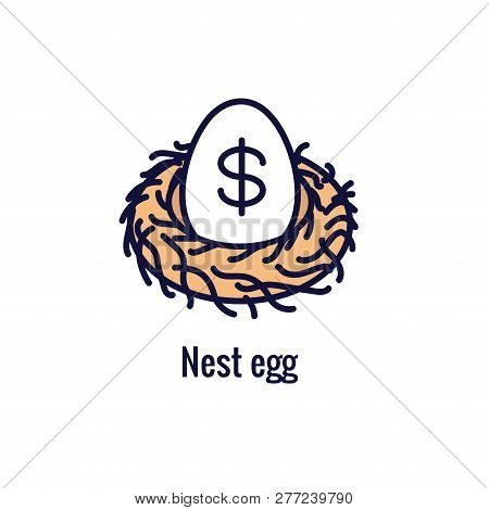 Retirement Account & Savings Icon Set - Mutual Fund, Roth IRA, etc stock photo