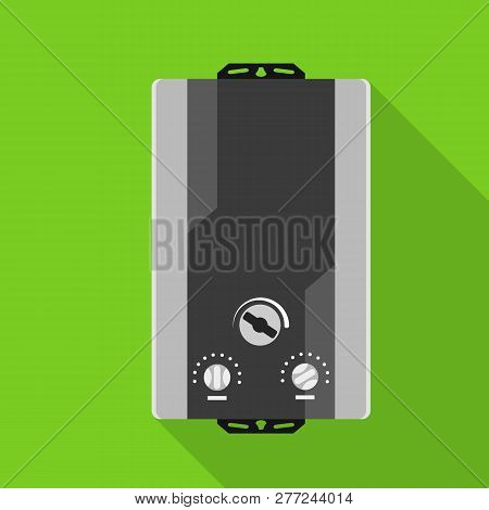 Modern gas boiler icon. Flat illustration of modern gas boiler vector icon for web design stock photo