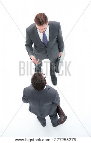 top view.two business competitor. stock photo