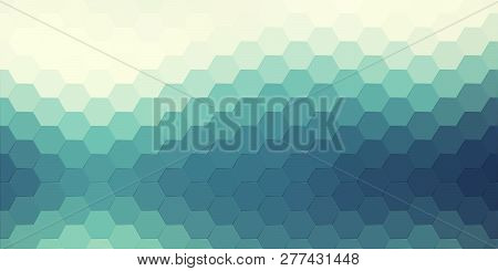 Abstract Hexagonal Background. Vector Geometric Background With Hexagons And Gradient Effect. Bright