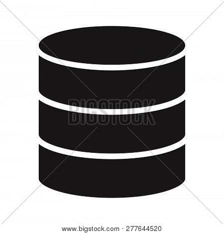 Database icon isolated on white background. Database icon in trendy design style. Database vector icon modern and simple flat symbol for web site, mobile, logo, app, UI. Database icon vector illustration, EPS10. stock photo