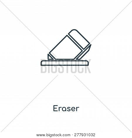 eraser icon in trendy design style. eraser icon isolated on white background. eraser vector icon simple and modern flat symbol for web site, mobile, logo, app, UI. eraser icon vector illustration, EPS10. stock photo