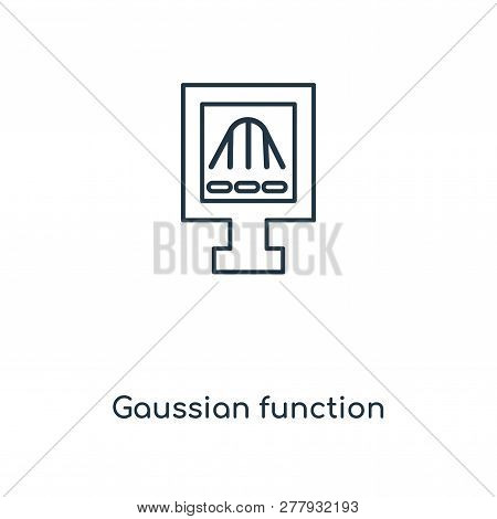 gaussian function icon in trendy design style. gaussian function icon isolated on white background. gaussian function vector icon simple and modern flat symbol for web site, mobile, logo, app, UI. gaussian function icon vector illustration, EPS10. stock photo