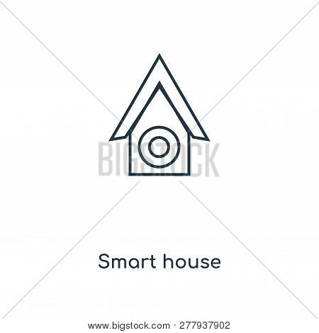 smart house icon in trendy design style. smart house icon isolated on white background. smart house vector icon simple and modern flat symbol for web site, mobile, logo, app, UI. smart house icon vector illustration, EPS10. stock photo