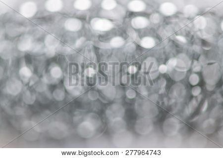 Blurred abstract background of the metal sponge. Horizontal photography stock photo