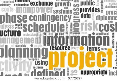 Project Management and Planning as a Background stock photo