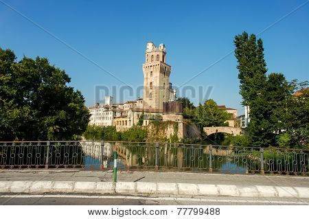 Galileo Galilei´s Astronomical Observatory La Specola Tower in Padova Italy stock photo