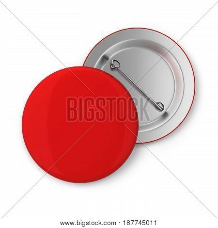 Blank badge. 3d illustration isolated on white background stock photo