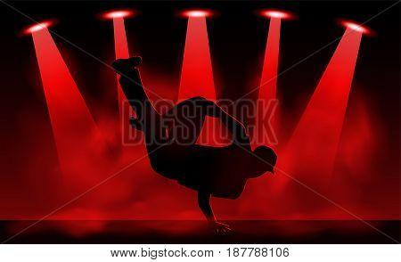 Vector illustration of Break dancer performance .