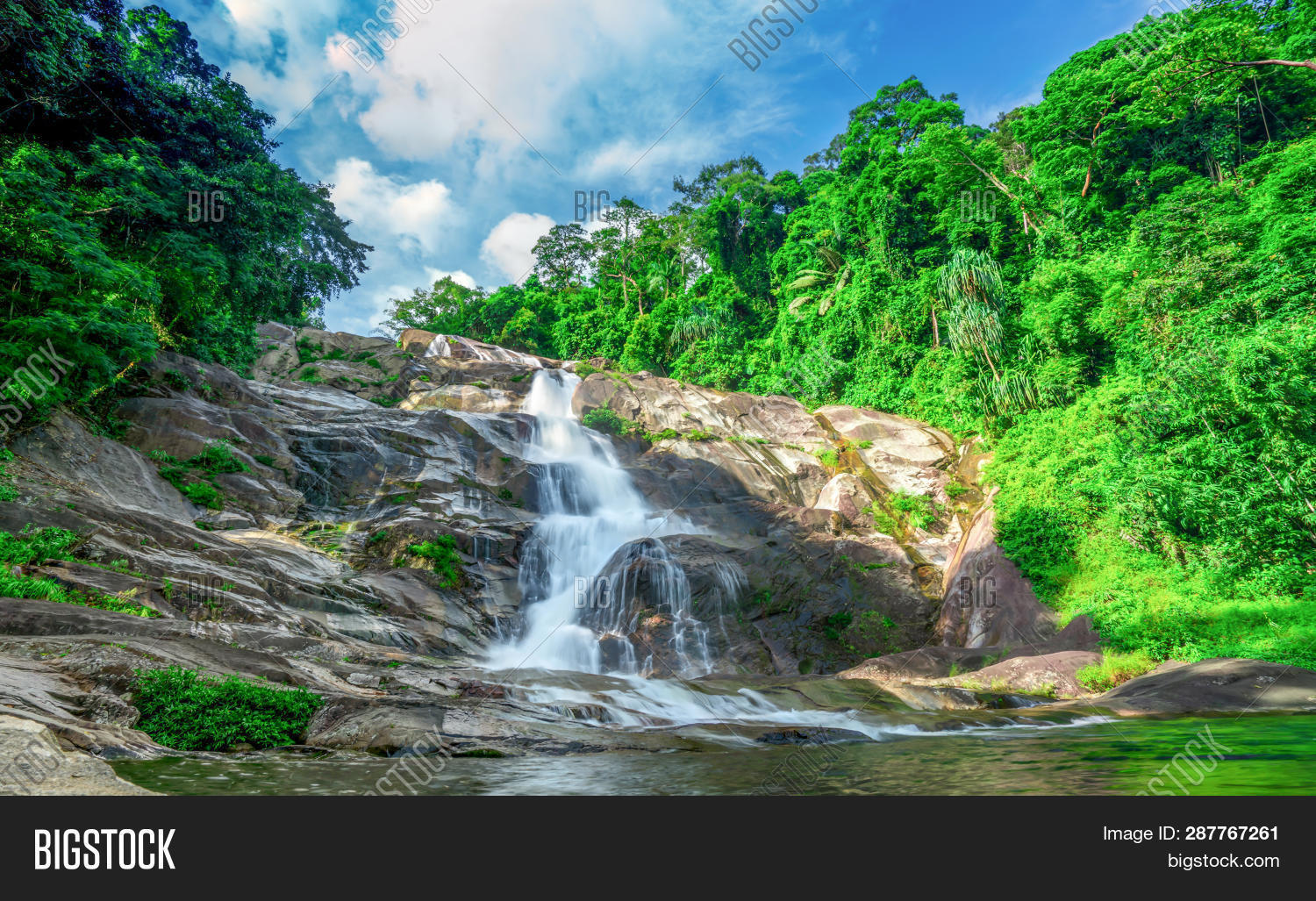 abstract,adventure,asia,background,beautiful,beauty,blue,cascade,clouds,ecotourism,environment,fall,flow,flowing,forest,granite,green,hiking,jungle,karome,landscape,light,lush,mountain,natural,nature,outdoor,park,rainforest,river,rock,scenery,scenic,sky,spring,stone,stream,summer,sun,thailand,tourism,trail,travel,tree,tropical,water,waterfall,white,wild,woods