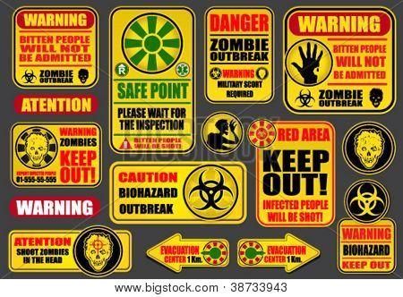 Zombie Apocalypse Signs & Billboards