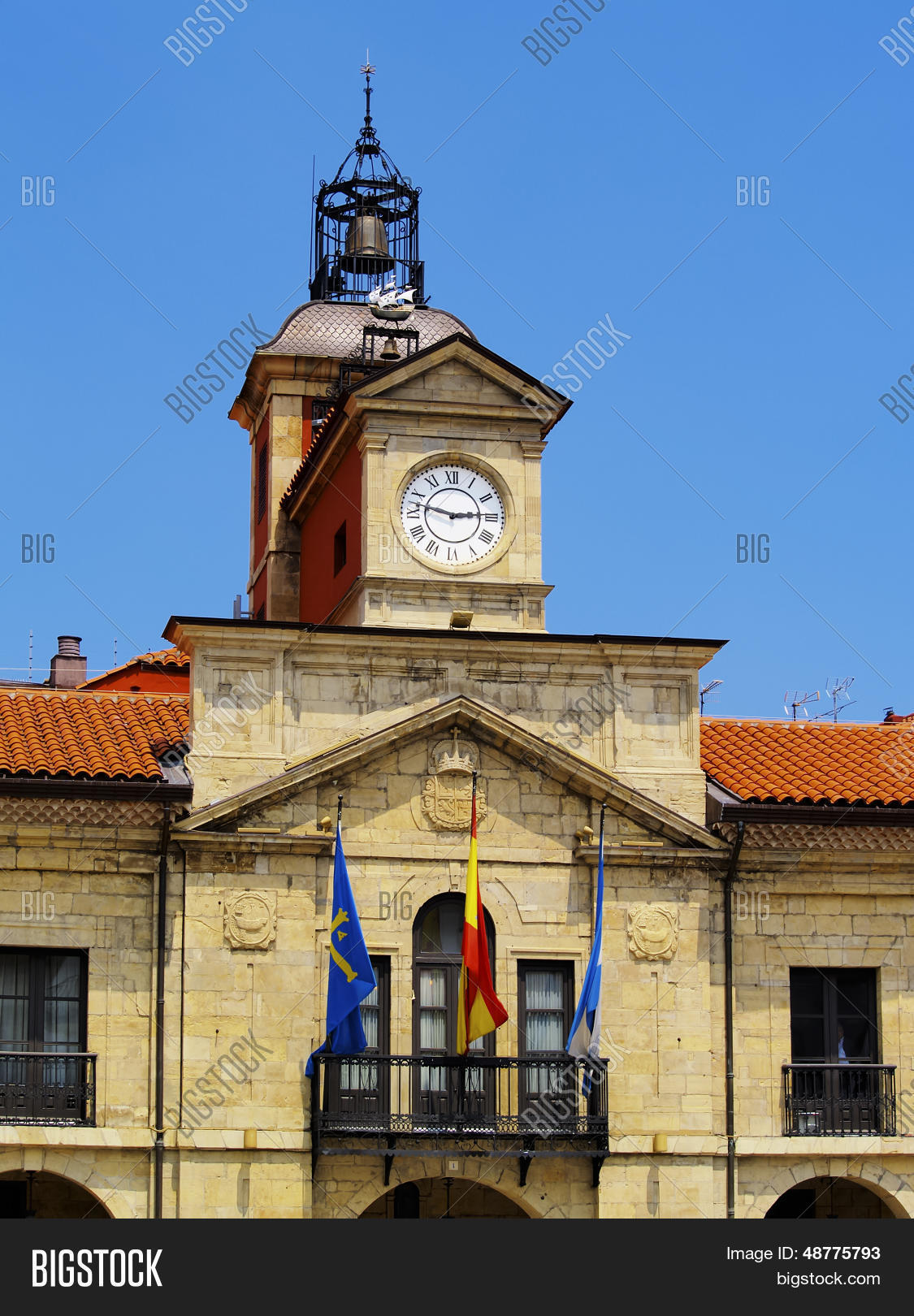 City Hall in Aviles Asturias Region Spain