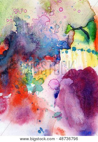 Peint à la main abstrait aquarelle fond sur la texture du papier grunge